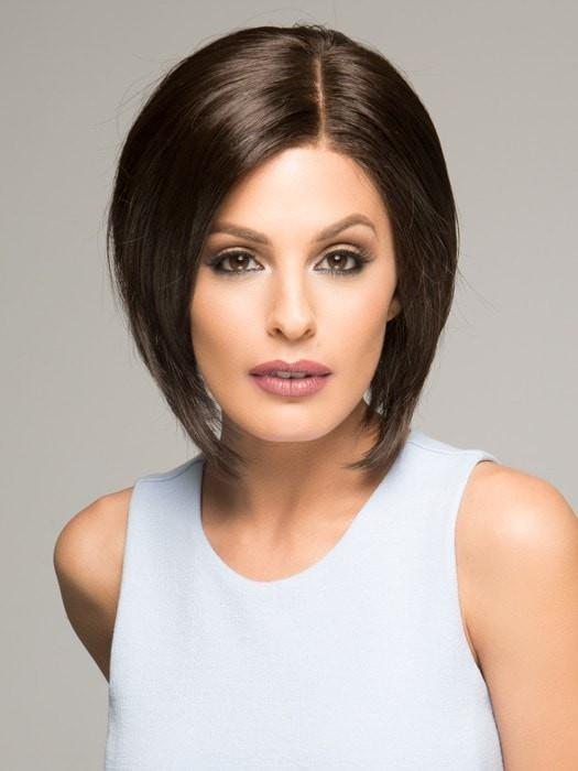 Lace along the front and a monofilament feature allow for styling away from the face and parting versatility