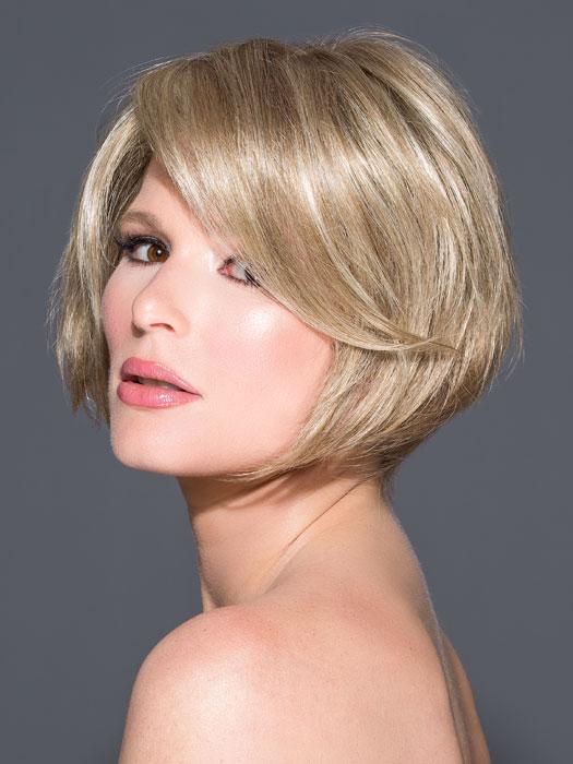 ELISHA PETITE by JON RENAU in 22F16 BLACK TIE BLONDE | Light Ash Blonde and Light Natural Blonde Blend with Light Natural Blonde Nape