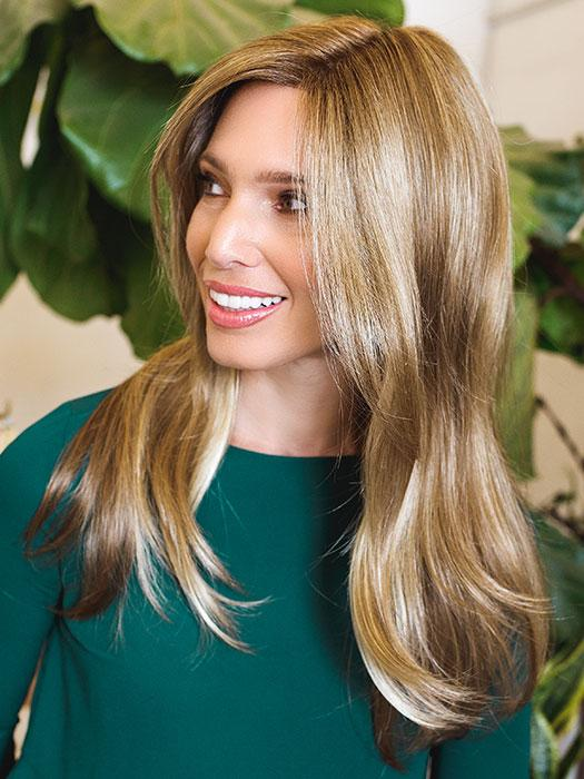 KAIA by JON RENAU in 12FS8 | Light Gold Brown, Light Natural Gold Blonde and Pale Natural Gold-Blonde Blend, Shaded with Medium Brown