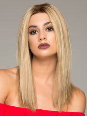 SIENNA EXCLUSIVE by JON RENAU in 12FS8  | Light Gold Brown, Light Natural Gold Blonde and Pale Natural Gold-Blonde Blend, Shaded with Medium Brown