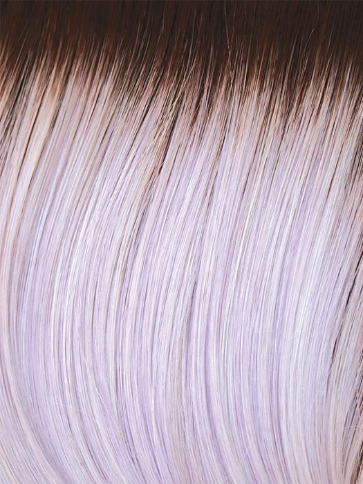 LAVENDER-BLUSH-R | Light Brown gradually blends into a Light Lavender throughout with Dark Roots