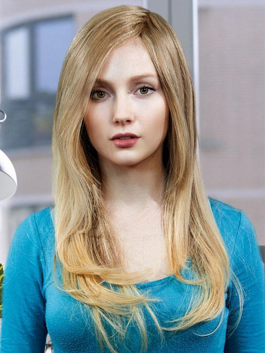 DIAMOND by LOUIS FERRE in T24B/18 MEDIUM SHADE BLONDE | Ash Blonde Blended with Golden Blonde Tones, Blonde Tip