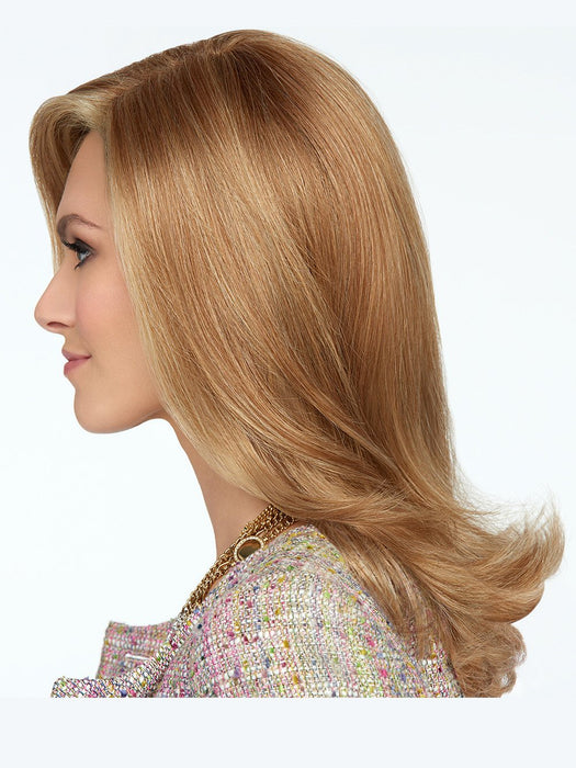 Light texturizing breaks up the large curl pattern at the ends to create a salon-quality finish