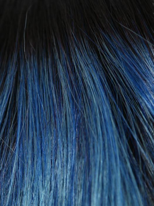 MELTED OCEAN | Slightly off black root with blended deep and light blue base light lavender tone ends