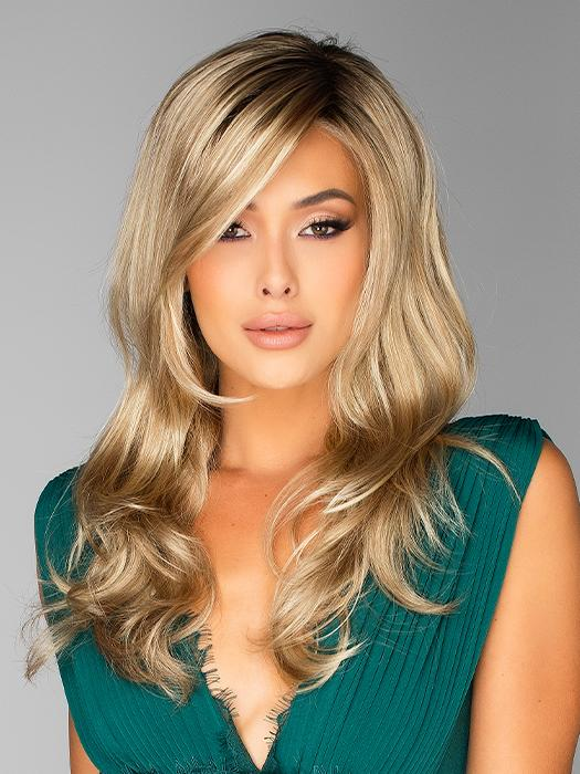 Miles of Style by Raquel Welch in SS14/88 SHADED GOLDEN WHEAT | Dark Blonde Evenly Blended with Pale Blonde Highlights and Dark Roots