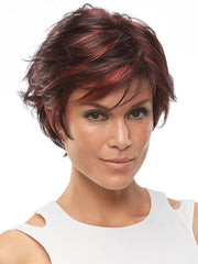 Short, layered, and voluminous synthetic wig with rounded layers