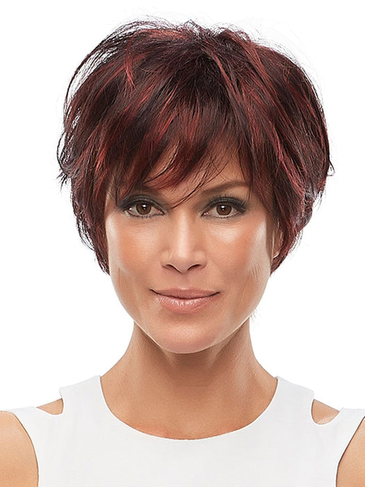 MARISKA Average by JON RENAU in FS2V/31V CHOCOLATE CHERRY | Black/Brown Violet, Medium Red/Violet Blend with Red/Violet Bold Highlights