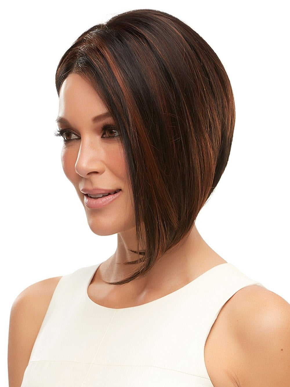 MENA by Jon Renau in 1BRH30 CHOCOLATE PRETZEL | Soft Black with 33% Gold-Red Highlights