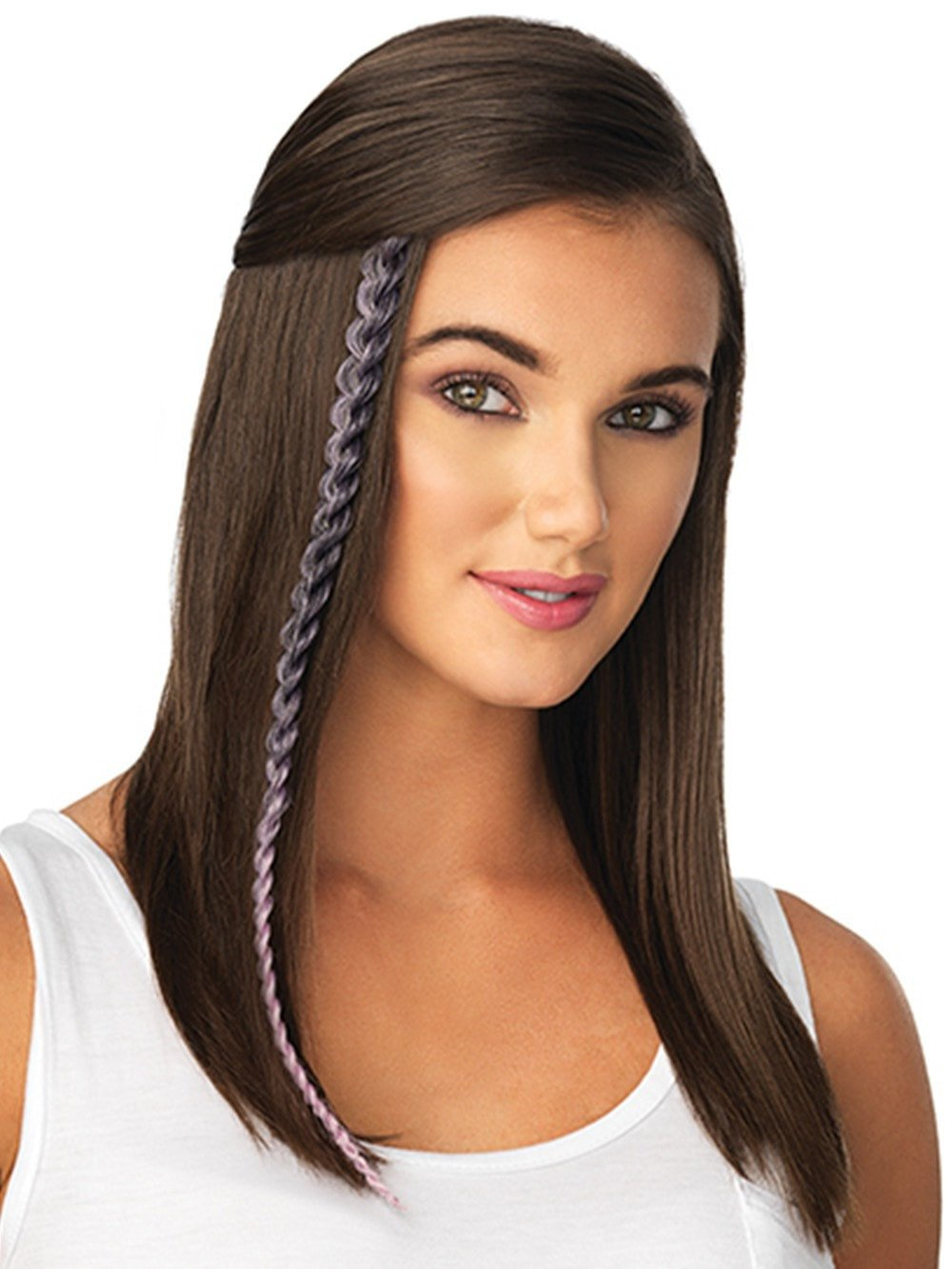 Metallic braid extension clip ins pop by hairdo wigs metallic braid extension by pop by hairdo in light purple black pmusecretfo Image collections