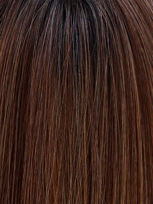 MOCHA WITH CREAM | Light Ash Brown with Caramel Brown and Medium Honey Blonde, Dark Brown Roots