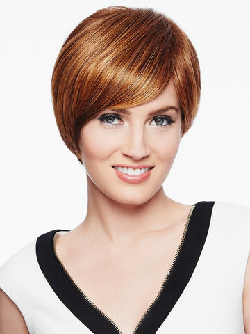 MODERN LOVE Wig by Raquel Welch in R3025S+ GLAZED CINNAMON | Medium Auburn with Ginger Blonde Highlights on Top