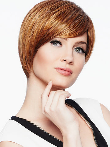 Modern Love Wig by Raquel Welch heat friendly synthetic hair wig in color glazed cinnamon