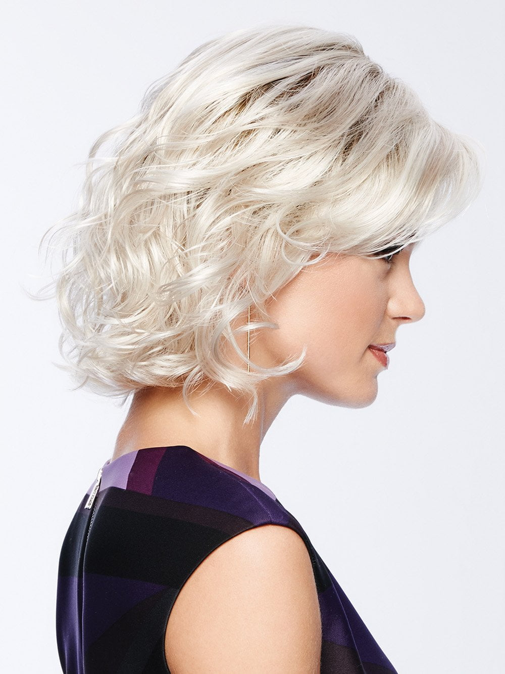 A classic wig, beautiful modernized bob with textured waves