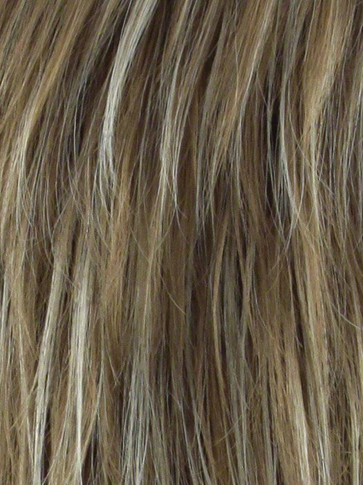NUTMEG F | Rooted Medium Blonde and Honey Brown Base Frosted with Platinum Blonde Highlights