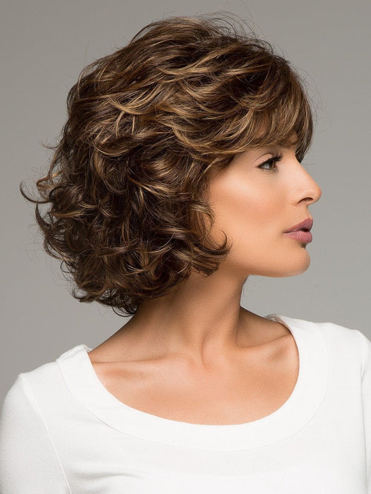 Mariah by Noriko is simply elegant, a beautiful chin length Bob with soft tousled curls.