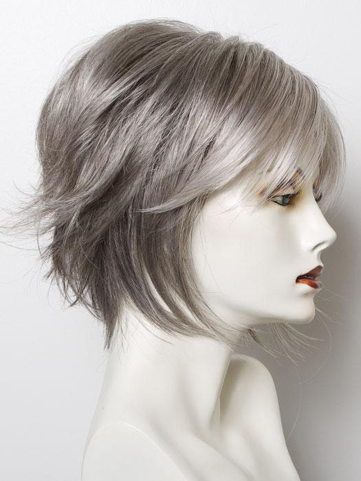 SILVER STONE  | Silver Medium Brown Blend That Transitions To More Silver Then Medium Brown Then To Silver Bangs