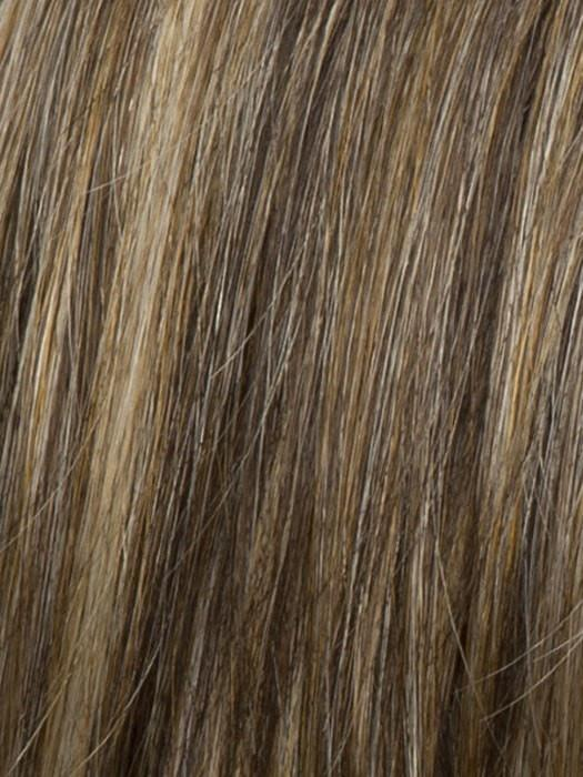 R11S GLAZED MOCHA | Warm Medium Brown with Golden Blonde Highlights on Top