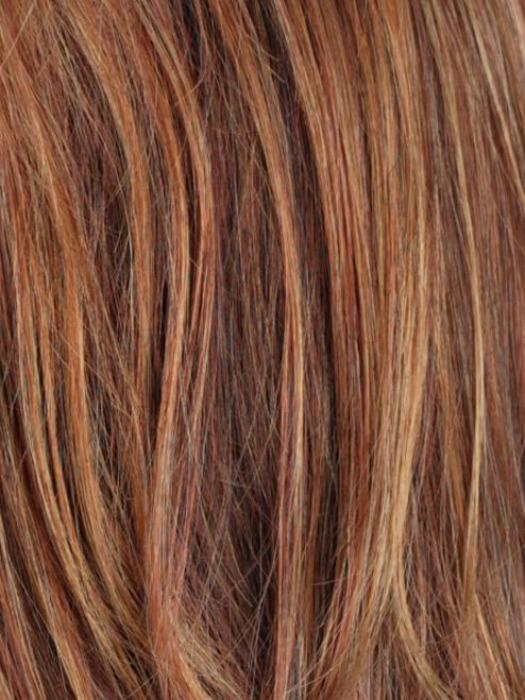 R133/24H | Auburn Bright Red with Pale Golden Blonde Highlights