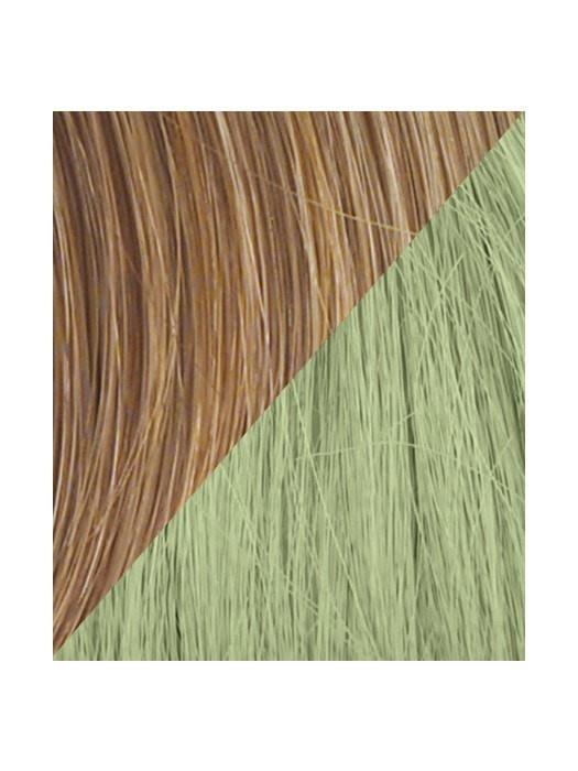 Color R14/25-GREEN = Dark Chocolate tipped with Light Green