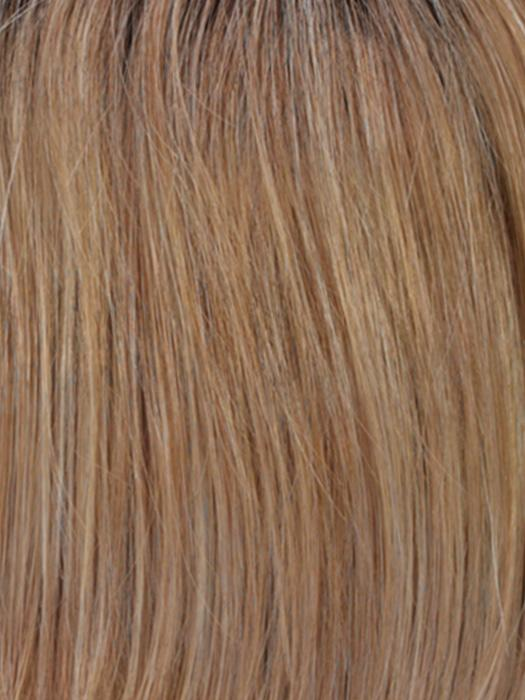 R20RT8 | Light Auburn and Golden Blonde Frost with Golden Brown Roots