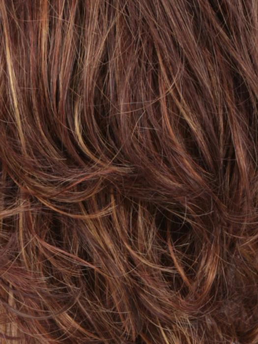 R32/33/40F | Dark Brown, Dark Auburn With Medium Golden Blonde Frost