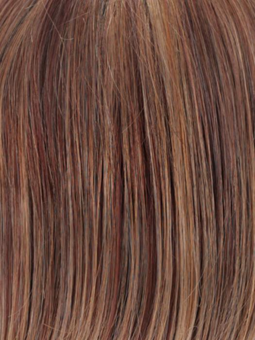 R33LF24 | Dark Auburn Lightening to Gold Blonde Mix in Front
