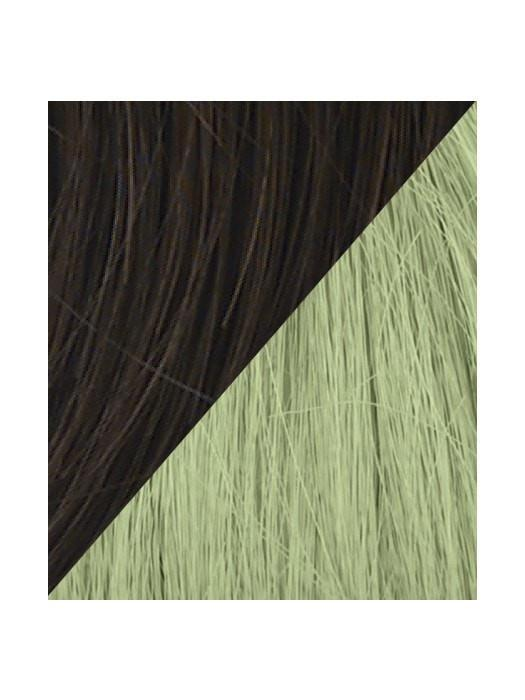 Color R6-GREEN = Dark Chocolate tipped with Light Green