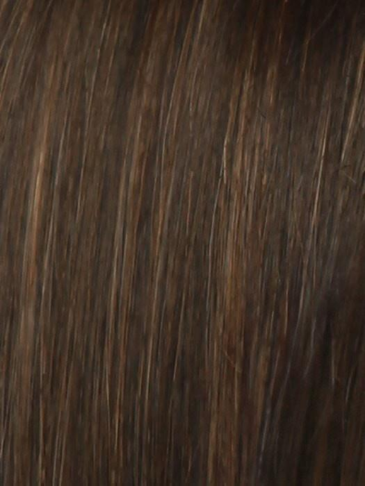 R6/30H CHOCOLATE COPPER | Dark Medium Brown Evenly Blended with Medium Auburn Highlights.