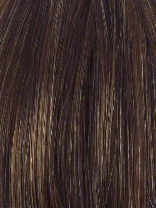 R829S+ GLAZED HAZELNUT | Medium Brown with Ginger highlights on top
