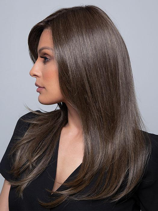 MESMERIZED by Raquel Welch in RL8/12SS ICED MOCHA | Medium Brown shaded with Dark Blonde