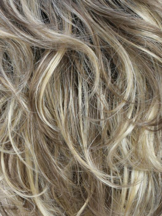 RH12/26RT4 | Light Brown with Fine Golden Blonde Highlights And Dark Roots