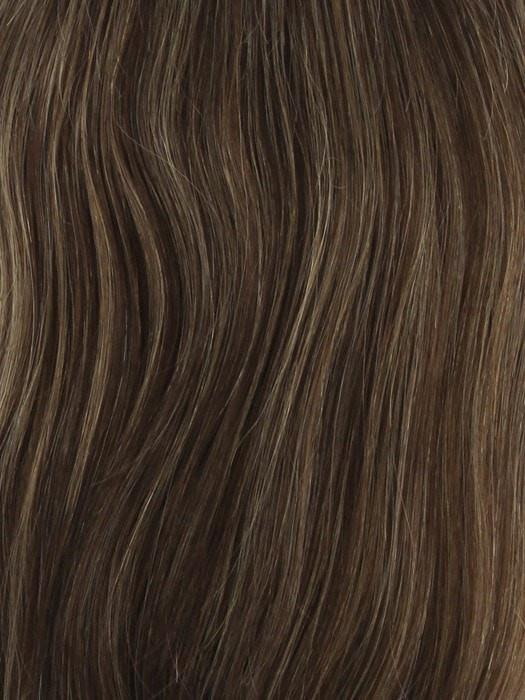 ROCKY-ROAD Medium Chestnut Brown Highlighted with Strawberry Blonde and Ash Blonde