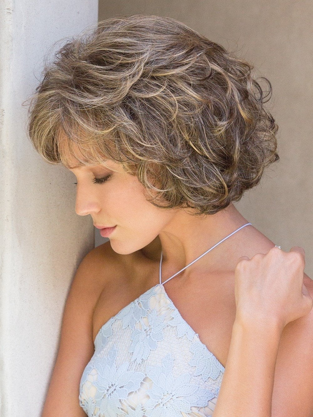 Mariah by Noriko is simply elegant, a beautiful chin length Bob with soft tousled curls
