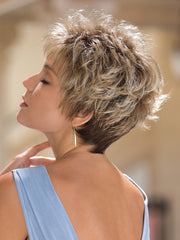 DREW by Noriko in CREAMY TOFFEE R | Rooted Dark Blonde  Evenly Blended with Light Platinum Blonde and Light Honey Blonde