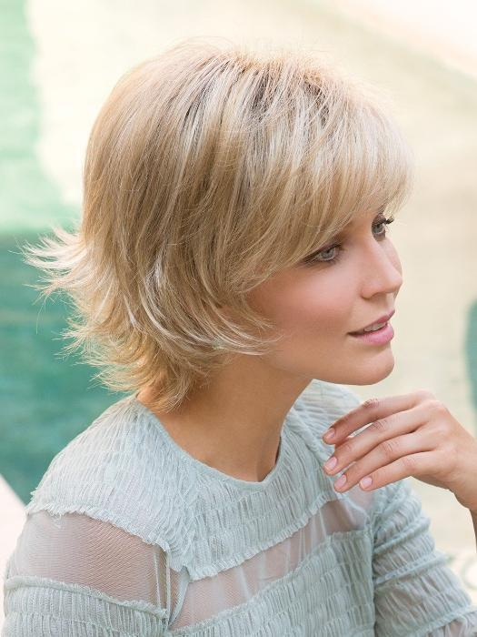 SKY by Noriko in CREAMY TOFFEE R | Rooted Dark Blonde  Evenly Blended with Light Platinum Blonde and Light Honey Blonde