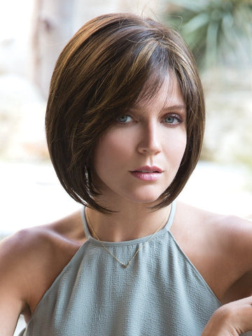 JOLIE by Noriko in Kahlua Blast | Medium Brown with Golden Blonde highlights on front and top