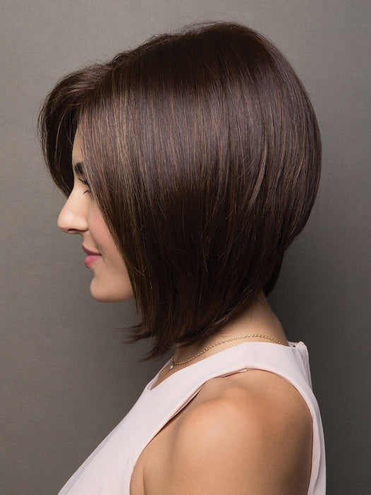 A beautiful bob style with softly razored long layers which gives this cut exceptional volume and movement