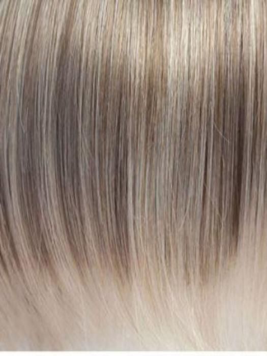ICE-BLOND | Ashy blond base with white gold tips and highlights on face