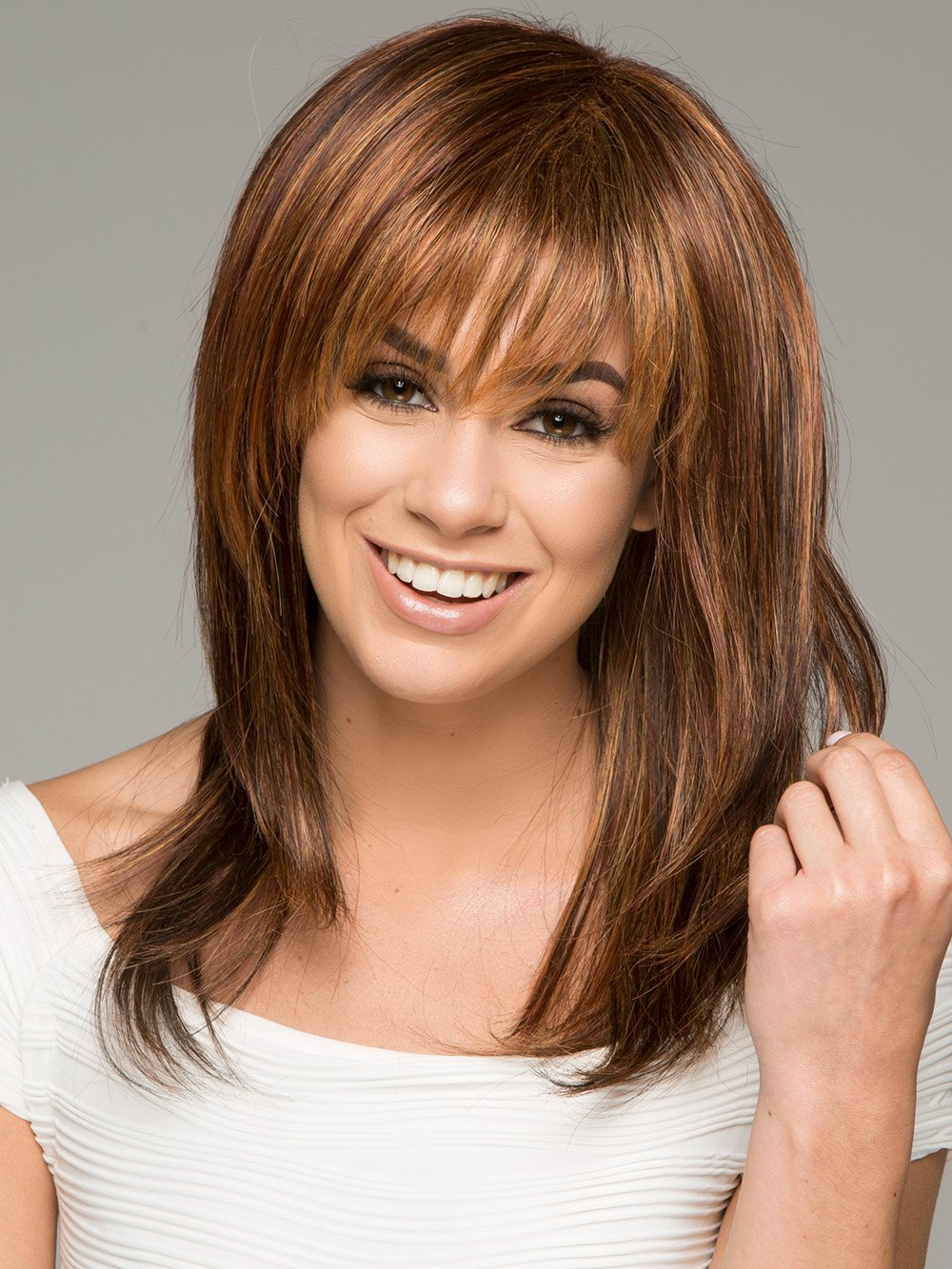 Photo enigma platinum collection full image - Enigma By Raquel Welch In R3329s Glazed Auburn Rich Dark Auburn With Pale Ginger Blonde