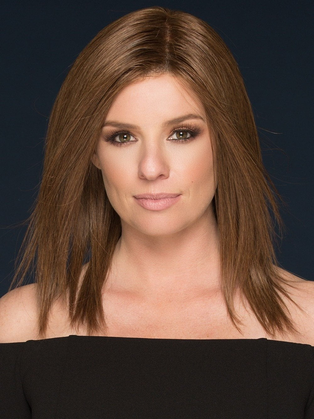 This mid-length human hair wig is changeable and realistic with its sleek texture and monofilament top