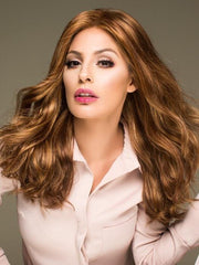 LONGING FOR LONG by Raquel Welch in R29S+ GLAZED STRAWBERRY | Light Red with Strawberry Blonde Highlights