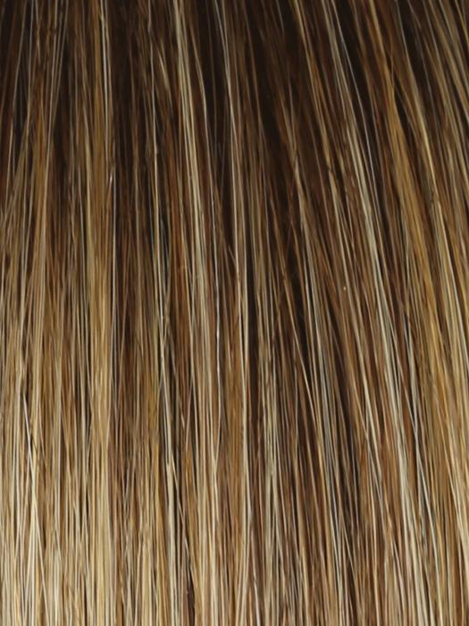 RL14/25SS | Shaded Honey Ginger | Dark Blonde Evenly Blended with Medium Golden Blonde With Dark Roots