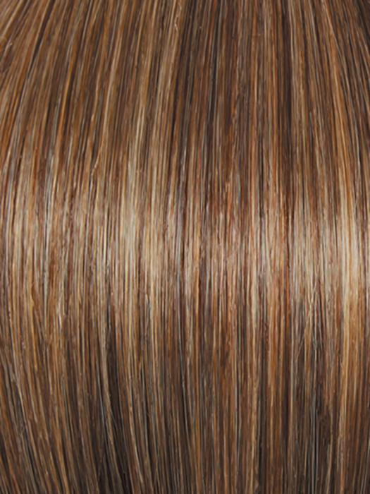 R11S+ GLAZED MOCHA | Medium brown with golden blonde highlights on top