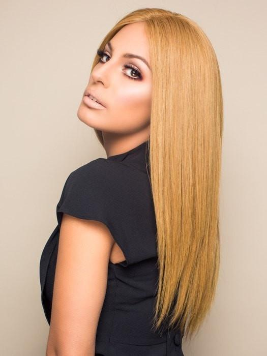 Contessa by Raquel Welch | BL8 Light Golden Blonde (This piece has been styled and straightened)