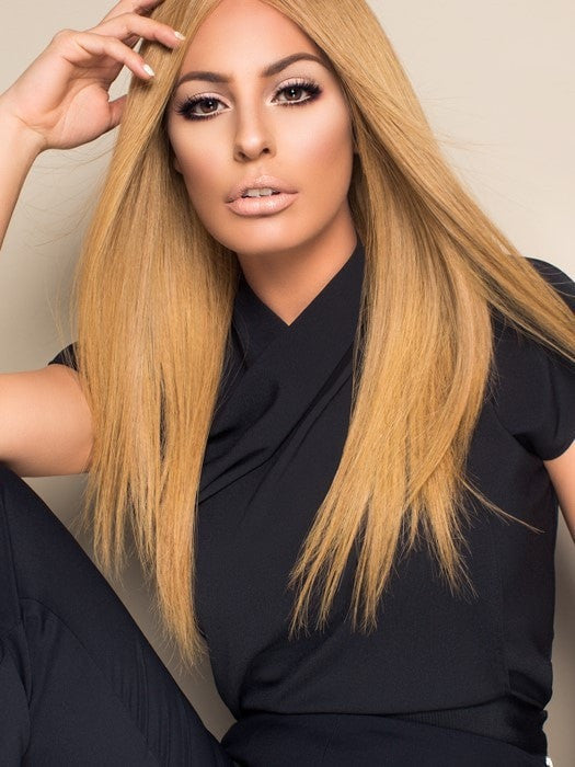 CONTESSA by Raquel Welch | Certfied Remy Human Hair Wig with Lace Front and a 100% Hand-Tied Cap (shown in BL8) (This piece has been styled and straightened)