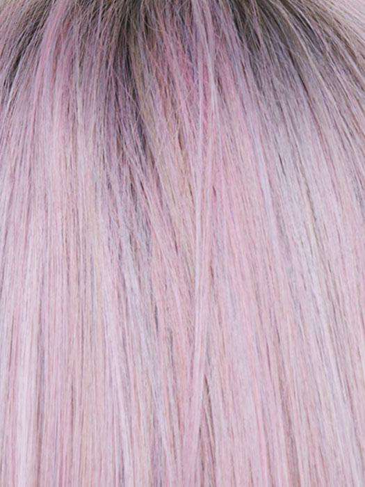 A dusty pink coloration reflects the latest trend in fantasy hair colors