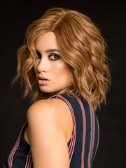 HOLLYWOOD AND DIVINE by RAQUEL WELCH IN R3025S+ GLAZED CINNAMON | Medium Auburn with Ginger Blonde Highlights on Top