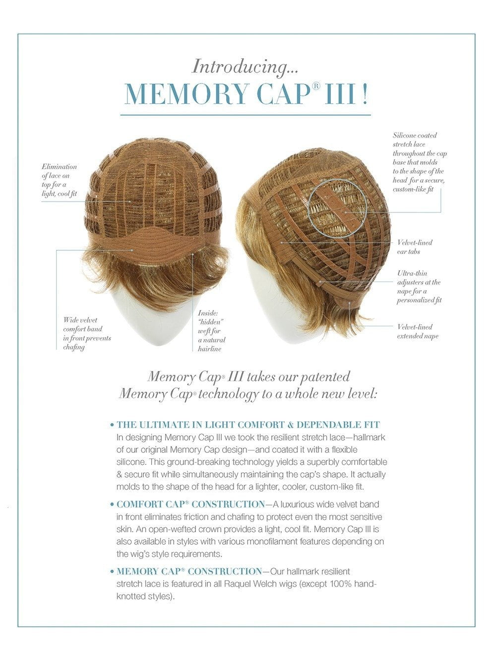 Memory Cap III with Lace Front and Monofilament Top