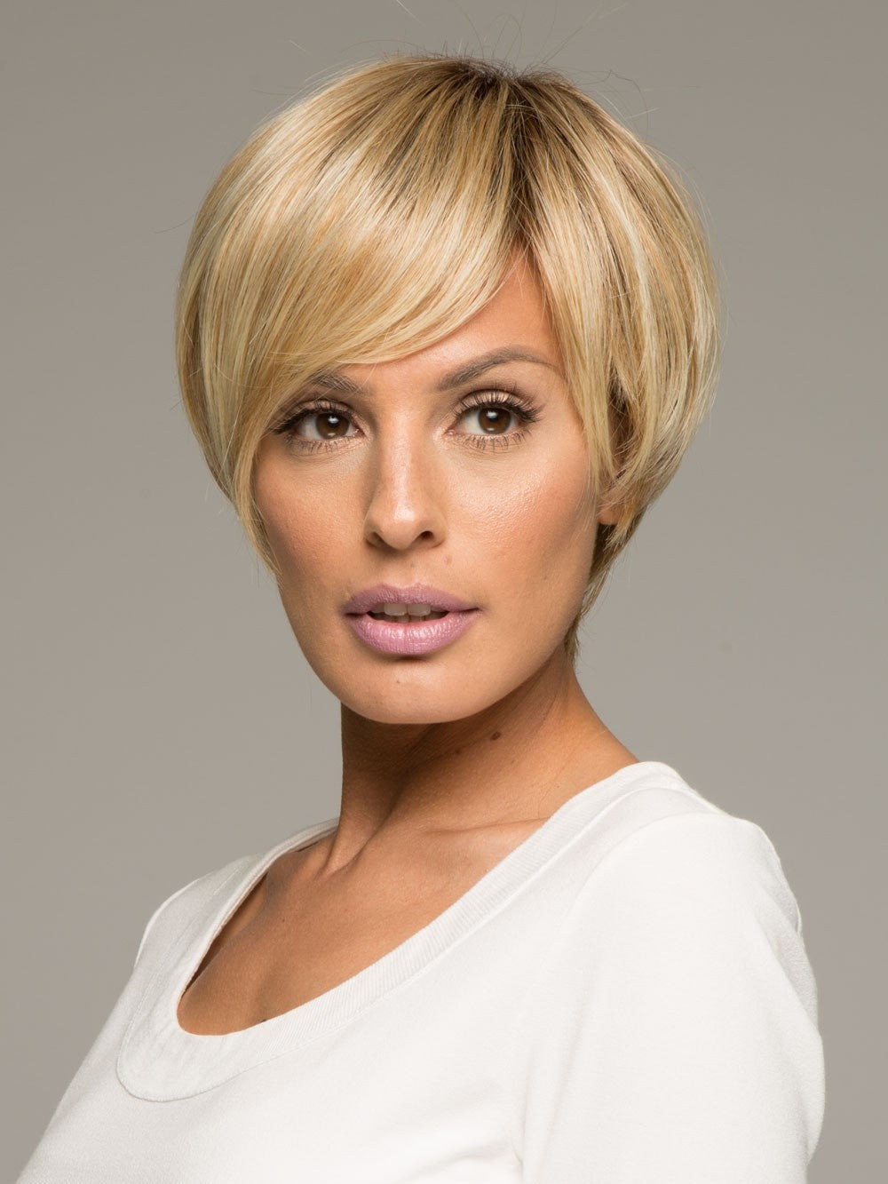 MODERN LOVE by Raquel Welch in SS14/88 SHADED GOLDEN WHEAT | Dark Blonde Evenly Blended with Pale Blonde Highlights and Dark Roots