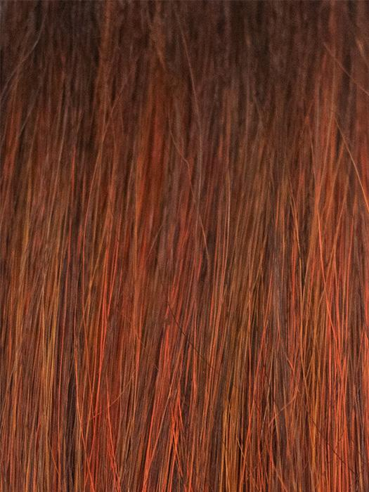 Red Copper | Copper-toned deep red with dark roots.RED COPPER | Copper-toned deep red with dark roots.